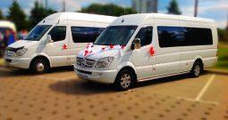 Аренда микроавтобуса с водителем Мерседес Спринтер напрокат в Минске